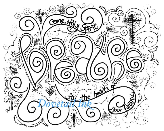 graphic about Come Holy Spirit Prayer Printable identify Printable Fastened of 3 Appear Holy Spirit Christian Prayer Coloring Web pages for Grown ups!