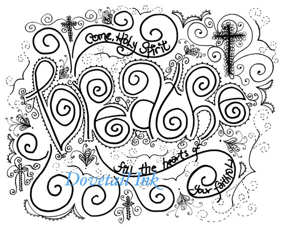 image regarding Come Holy Spirit Prayer Printable titled Printable Fixed of 3 Arrive Holy Spirit Christian Prayer Coloring Web pages for Grown ups!