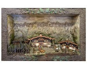Large Bavarian Austria Diorama for Built In shipping is additional and not included in price