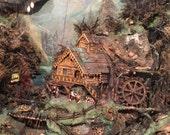 Rare Pair of Antique Swiss Dioramas no shipping