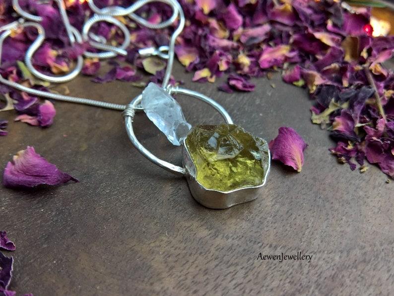 Rough stone Crystal necklace Raw Crystals Crystal jewellery Rough stone necklace Silver pendant Quartz Jewellery Raw Quartz