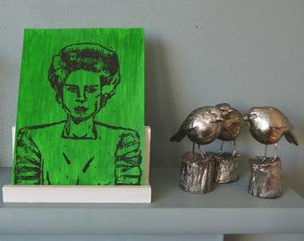 Bride of Frankenstein Original Lino Prints