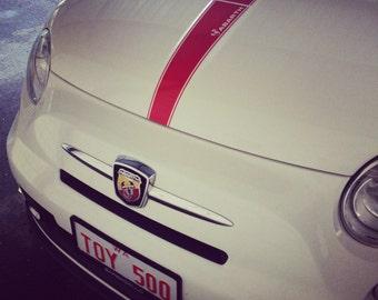 Fiat 500 Abarth Vinyl Hood Decal