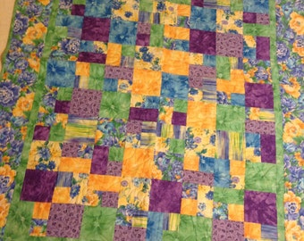 Ashley Floral Throw Quilt
