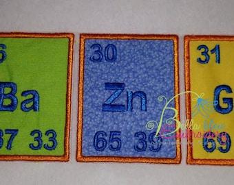 Periodic applique etsy bazinga periodic table applique machine embroidery design big bang theory urtaz Gallery