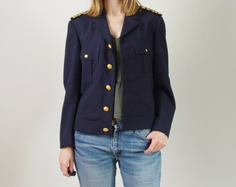 80s Swedish Navy Army navy blue wool blended jacket by Nobel