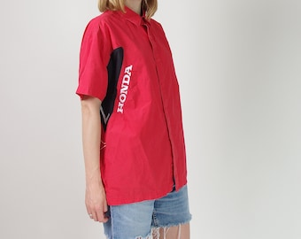 Vtg Honda red embroidered unisex shirt