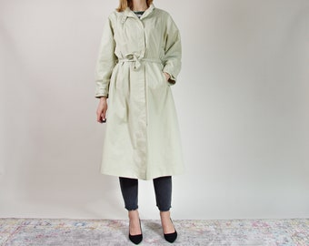 70s Old school retro style sand beige spring summer women trench coat