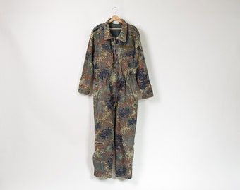 SALE 30% OFF 1998 German army tankman flecktarn camouflage coveralls