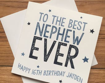 Personalised Nephew O Age Birthday Card