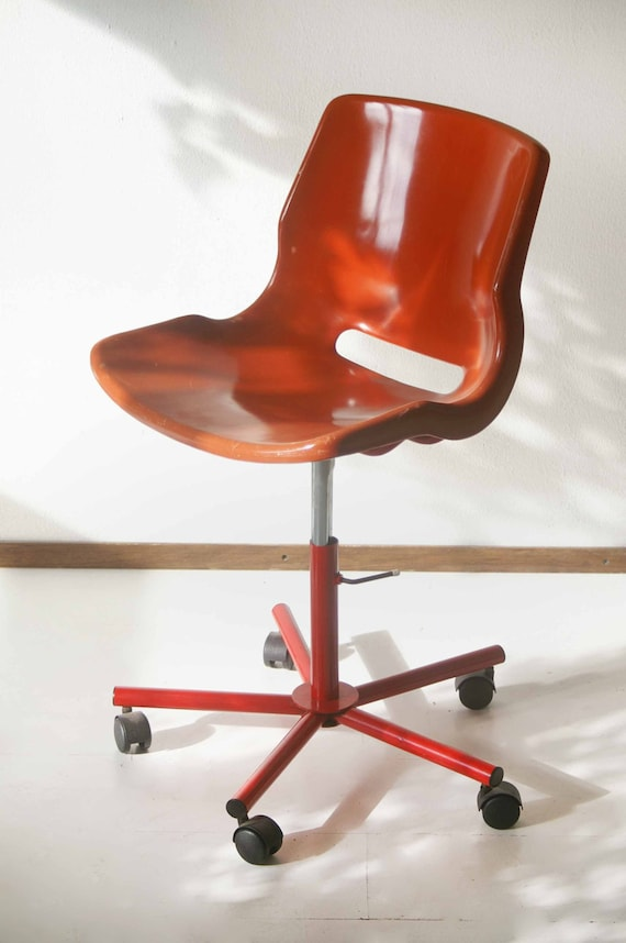 Vintage Design Bureaustoel.Items Similar To Svante Schoblom Overman Ab Desk Chair