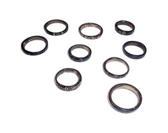 Thin coconut rings - Natural Wedding rings