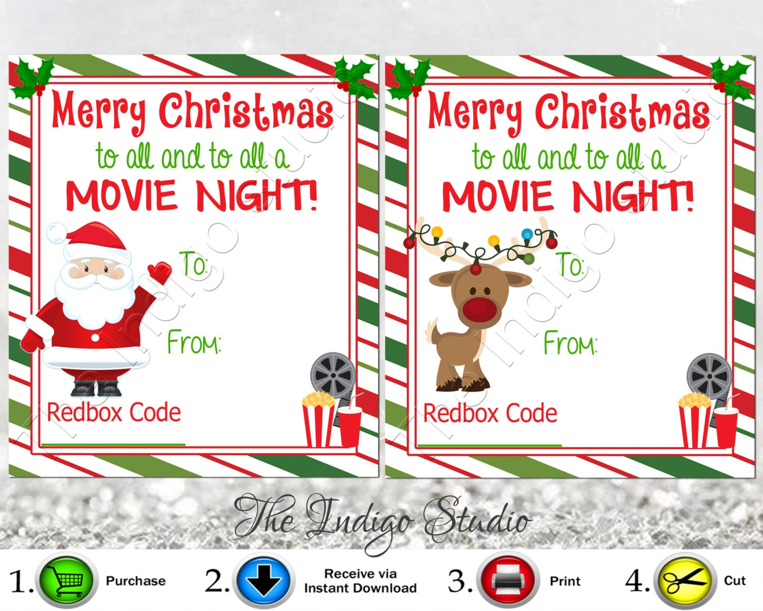 photograph relating to Free Printable Redbox Gift Tags known as Redbox Codes present Tags Playing cards Electronic Printable 4 Substitute Plans Merry Xmas in the direction of all and toward all a Online video Night time REDBOX Code Video Presents
