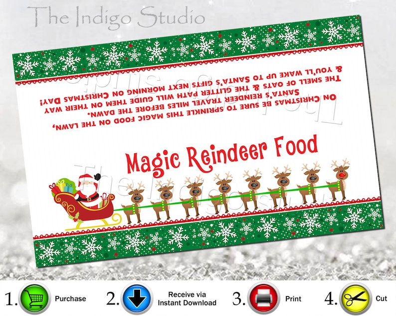 image about Reindeer Food Labels Printable named Magic Reindeer meals bag topper Electronic Printable Reindeer Food stuff Label - Reindeer Meals Tag - Xmas Tag - 6.5 x 4 - Xmas Eve