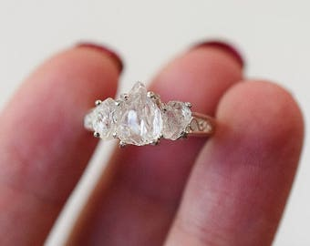 Raw Diamond Ring Etsy