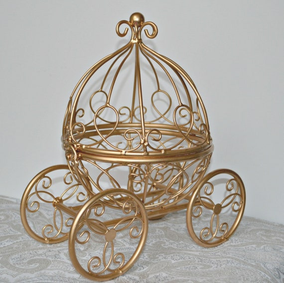 Items Similar To Gold Wire Cinderella Carriage Fairytale
