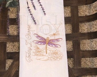 Custom Embroidered Towel, Tea Towel, Kitchen Towel, Guest Bath Towel, Flour Sack towel,