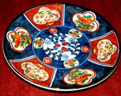Antique Japanese Imari Plate - Oriental Collectible Hand Painted Porcelain - Authentic Japanese Antique Porcelain plate