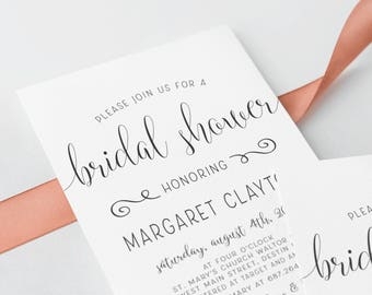 Fun Bridal Shower Invitation Printed OR Digital Print Yourself Invite