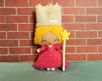 Felt Glinda the Good Witch Wizard of Oz Softie Plushie by Noialand