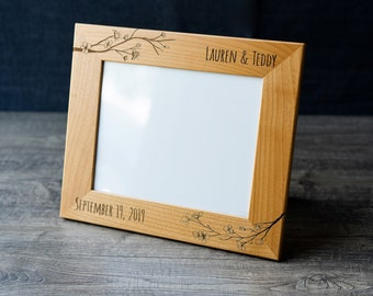 Martin Laser Engraved Wood Picture Frame 5 x 7 St
