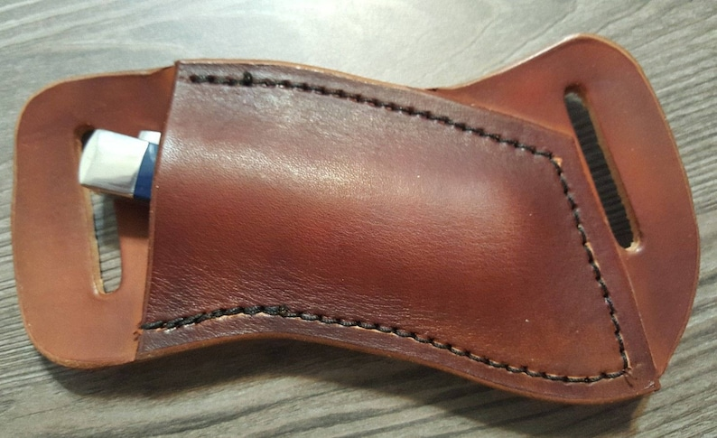 Cross Draw Leather Knife Sheath Made To Fit A Case Trapper Or Etsy
