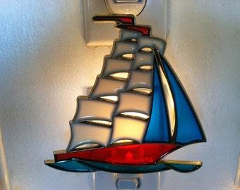 Sailboat Night Light  4 watt  on/off switch