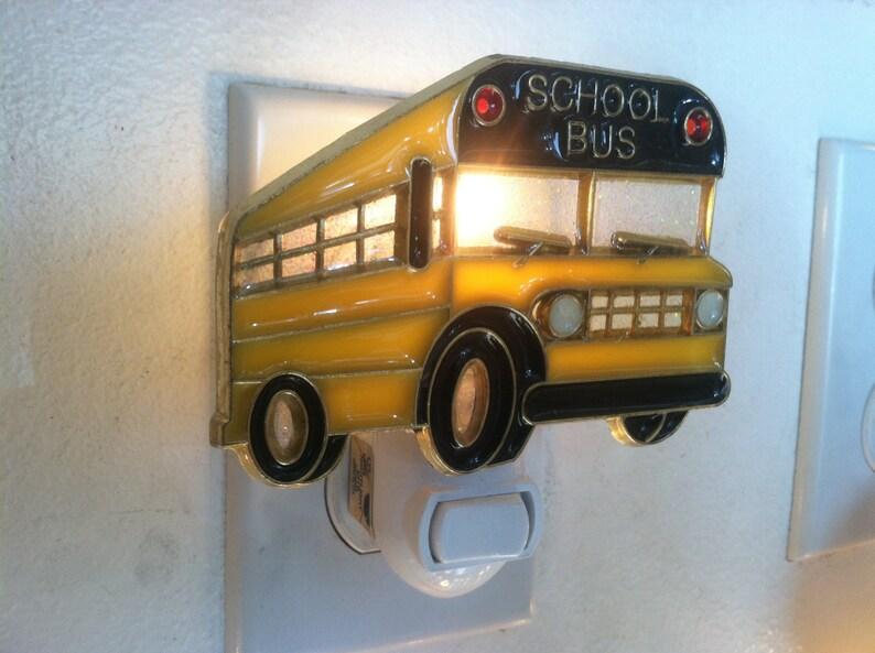 School Bus Night Light with  4 watt  onoff switch