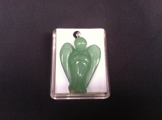 Carved Stone Angel Necklace Made Of Jade Etsy