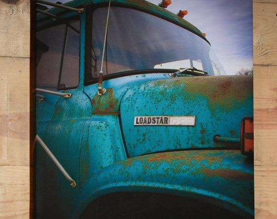 Canvas Wrap Art Print 'Roadside Beauty' Rural Photography Farm Truck Beauty in Decay