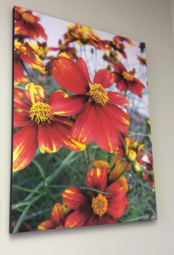 Canvas Wrap Art Print Floral Photography. Macro, Flowers