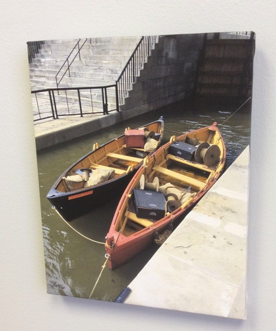 Canvas Wrap Art Print Local Photography Erie Canal Lockport Fight of Five