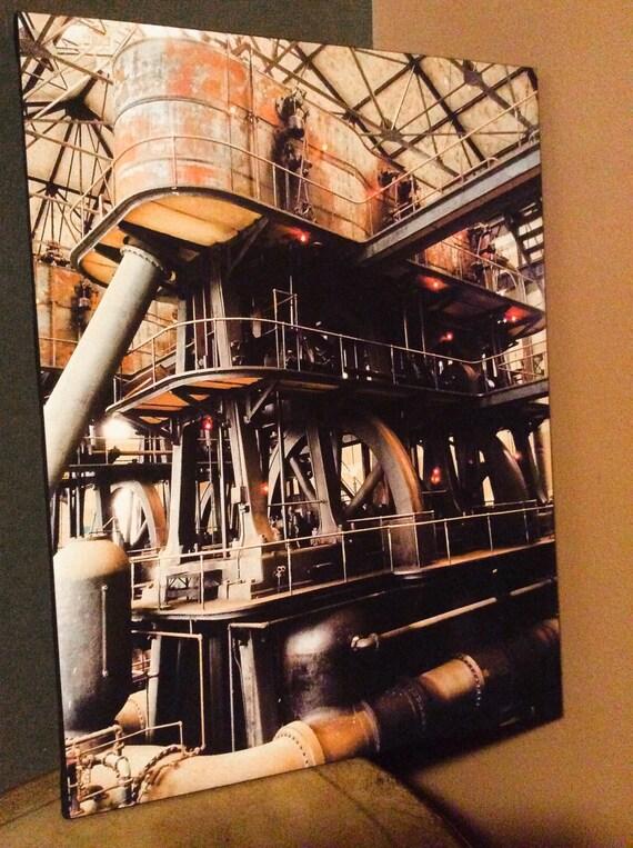 Canvas Wrap Art Print Local Photography Buffalo NY Col. Ward Pumping Station Steampunk