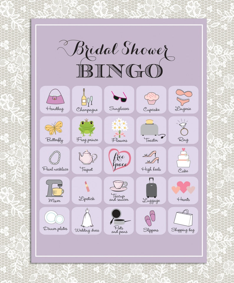 graphic regarding Printable Bridal Shower Bingo titled Printable Bridal Shower Bingo, 40 distinctive match playing cards inside of crimson, Quick down load