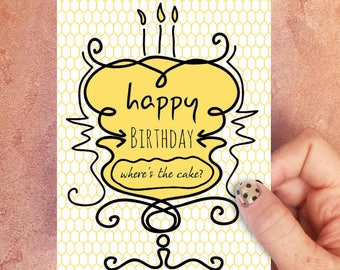 Where's the Cake Birthday Card