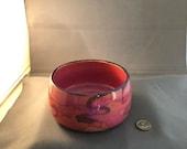 Pet Bowl, Pink, Holds 14Oz – Made by blind ceramic artist