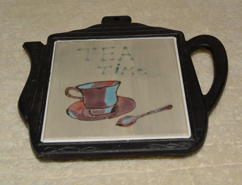 Sottopentola ghisa forma di teiera piastrelle di ceramica etsy