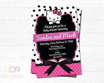 Hello Kitty Baby Shower invites