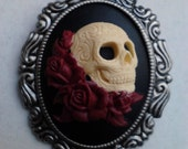 Loved To Death Cameo necklace brooch