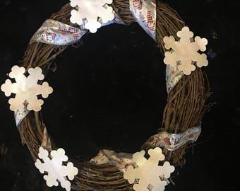 Large snowflake wreath