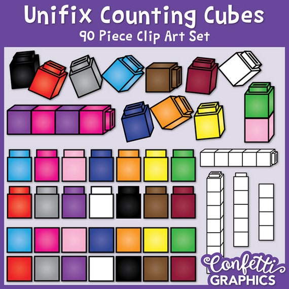 unifix cubes clip art linking cubes counting cubes math rh etsy com Connecting Cubes Clip Art Ten Unifix Cubes Clip Art
