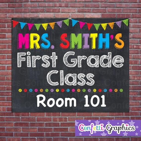 teacher door sign personalized teacher sign classroom door etsy