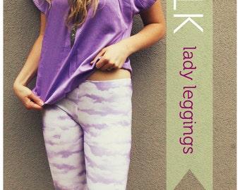 PATTERN 'STALK' Lady Leggings 6-18 AF1306