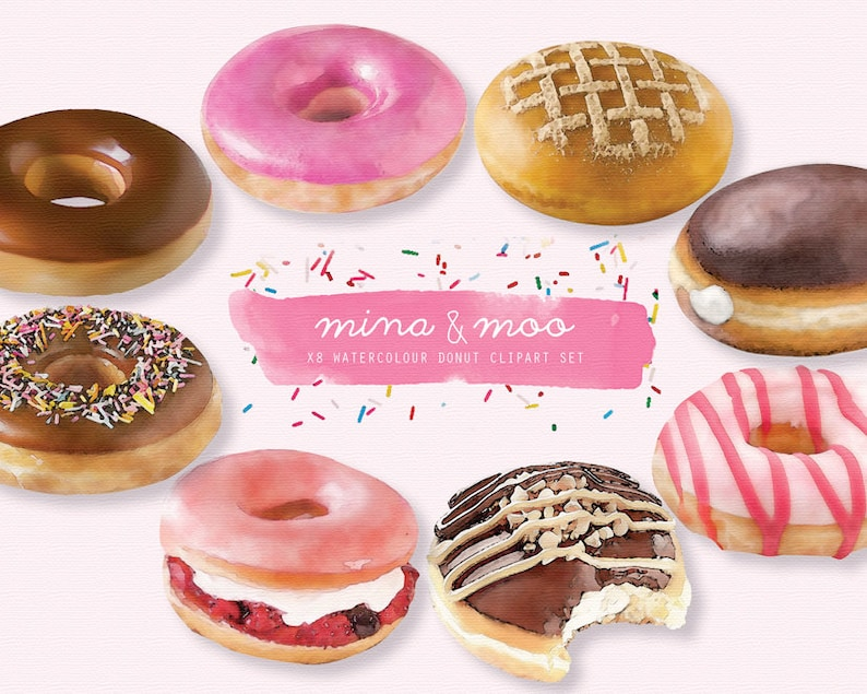 Free Donuts Clip Art with No Background - ClipartKey