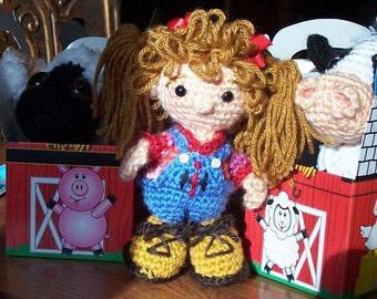 Cadence's FarmKeeper Farmer Doll with Barnyard animals