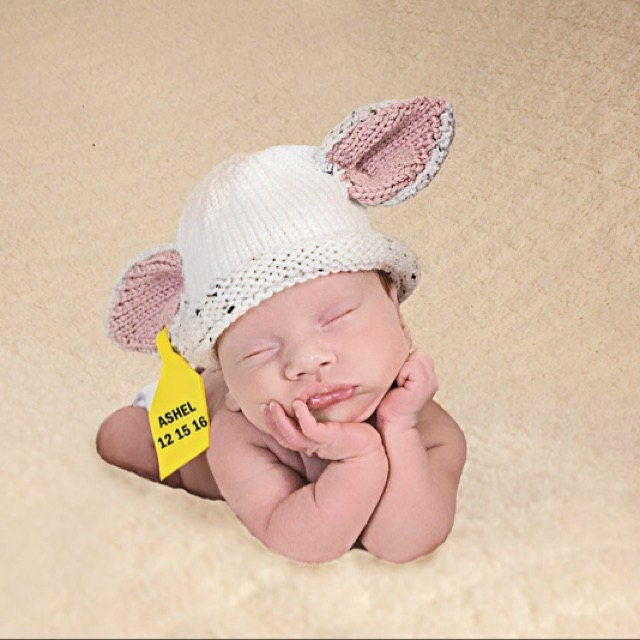 42013bf57 Knit Charolais, Baldy, White Angus Baby Cow Diaper cover, Hat and ...