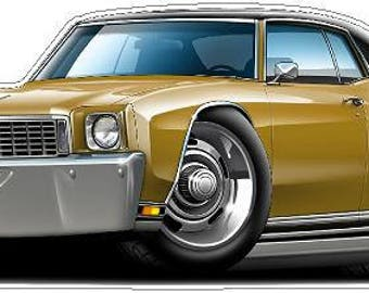 chevy monte carlo etsy1972 monte carlo wall decal, classic car, automobile wall murals, chevy wall decal, vintage car decals, 70s car decals