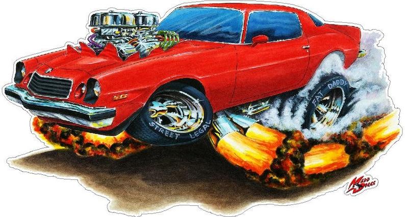 1976-79 Camaro FB Car Wall Decal, Vintage Car Decals, Classic Car Decal,  70s Car Decals, Vintage Hot Rod Decals