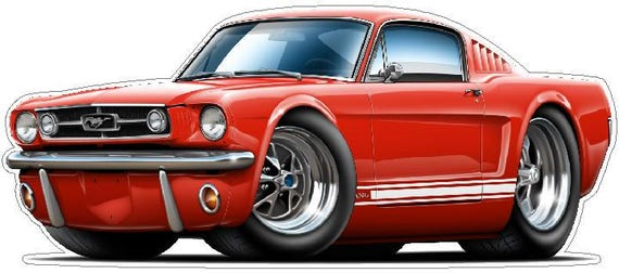 Wall Art Sticker 1965 Ford Mustang Fastback