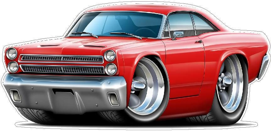 Man Cave Decor Classic Car Wall Decals 1964 Comet Car Wall Stickers 1960/'s Car Sticker Decor Father/'s Day Gift Garage Wall Decor